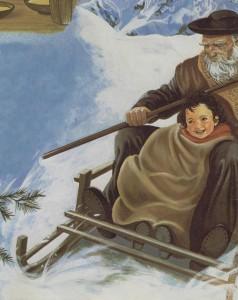 Heidi con su abuelo