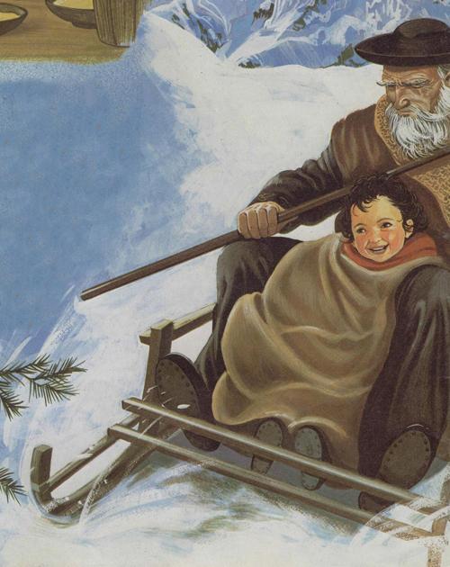 Heidi con su abuelo cuentos infantiles cuentos para - La casa vieja del abuelo ...