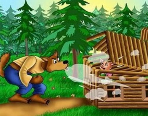Los 3 cerditos cuentos infantiles - Casitas en el bosque ...