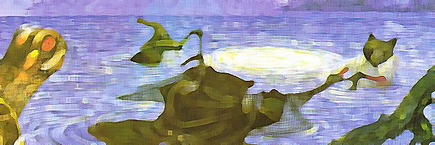 La luna y el lago