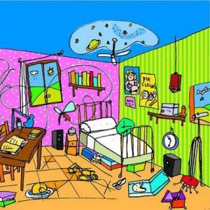 La habitación desordenada