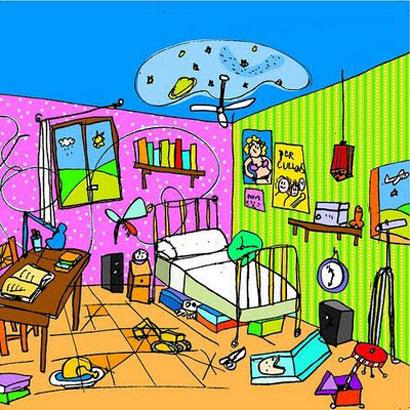 La habitacin desordenada Cuentos infantiles