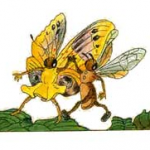 La abeja y la mariposa
