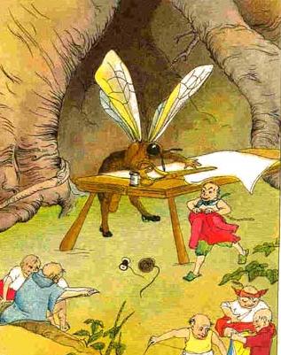 La abeja trabajando