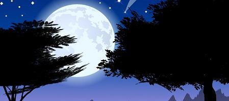 La luna enterrada
