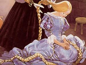 Rapunzel le cortan el pelo